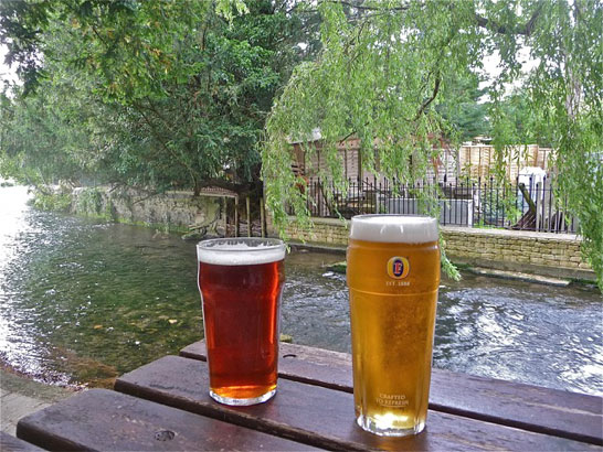 Windrush river and beer